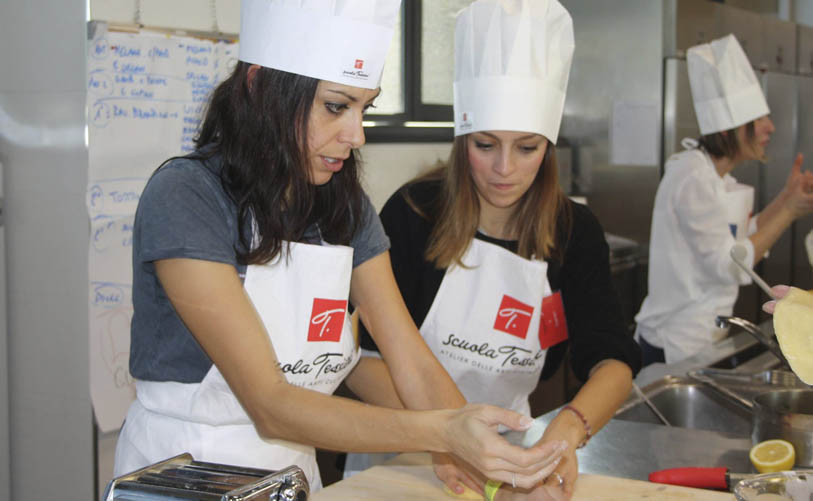 silvia martina durante il team cooking